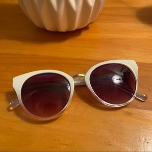 Anthropologie sunglasses, white and gold